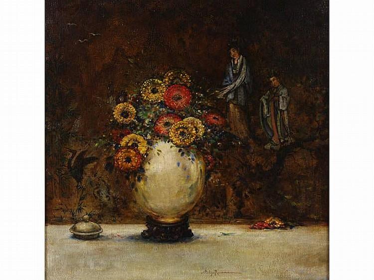 Felix Russman (IL, 1888-1962), Oriental Still Life