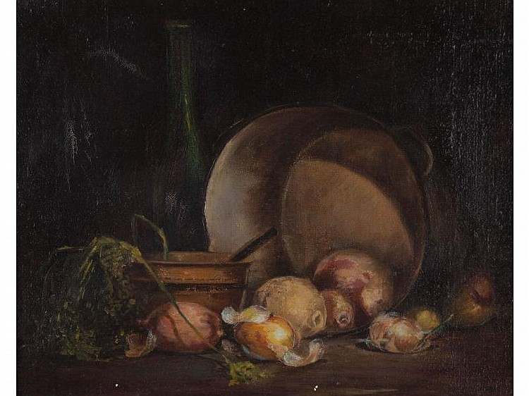 Oscar Soellner (IL, 1890-1952), Still LIfe, oil on