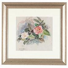 Sarah Blakeslee (NC, 1912-2005), Camellias, Pink & Red