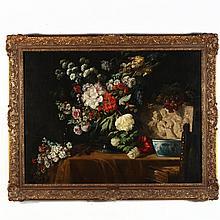 Lucas Schaefels (Belgian, 1824-1885), Still Life with Flowers
