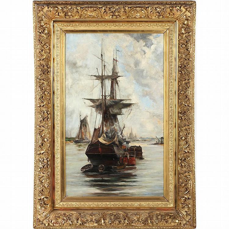 att. Johan Jacob Bennetter (Norwegian, 1822-1904), Ship on Fire