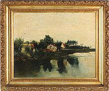 American Folk Art Landscape, 19th century
