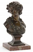French Bronze Female Bust