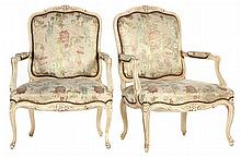 Pair of Louis XV Style Fauteuil