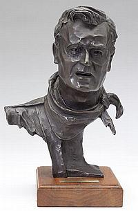 Bronze Bust of John Wayne