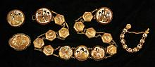 Satsuma Medallion Belt with Bracelet and Brooches