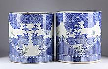 Pair of Japanese Porcelain Planters