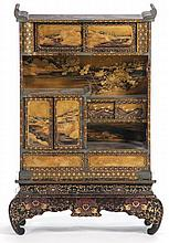 Japanese Lacquer Cabinet on Stand