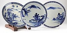 Set of Three Japanese Arita Porcelain Chargers
