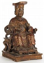 Chinese Carved Wooden Official