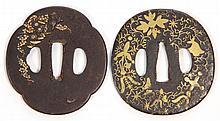 Two 19th Century Japanese Iron Tsubas