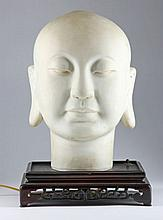 Chinese Bisque Porcelain Head of the Buddha