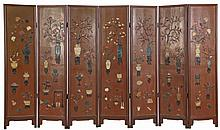 Antique Chinese Seven Panel Screen