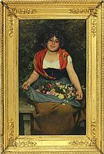 Gaetano Bellei (It., 1857-1922), The Flower Seller