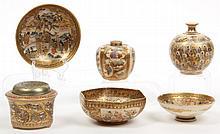 Six Japanese Satsuma Cabinet Items