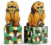 Pair of Chinese Buddhist Lions