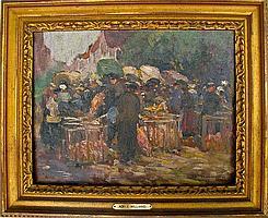 Adele Williams (VA, 1868-1952), Market Scene
