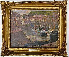 Adele Williams (VA, 1868-1952), Harbor Scene