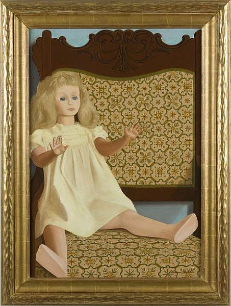 Lamar Baker (GA, 1908-1994), Doll with Chair,