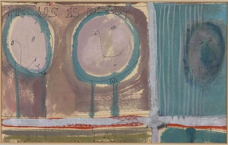 Dorothy Preston (Am., 1917-1993), Circus Abstract,