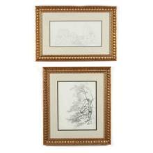 Jean-Achille Benouville (French, 1815-1891), Two Landscape Studies