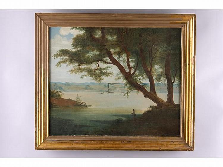 James Beard (NY, 1811-1893), Ohio River Packet,oil