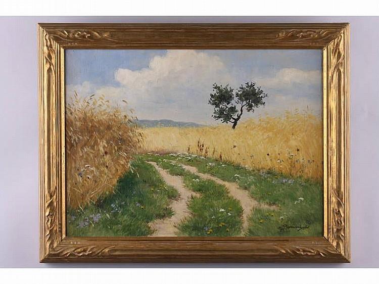 Ernst Frommhold (German, 1879-1955), Landscape,oil