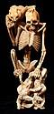 Japanese Ivory Skeleton Okimono