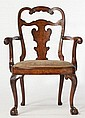 English Queen Anne Style Armchair