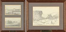 Edouard Marquis (French), Three VA Sketches
