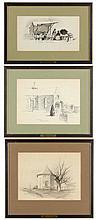 Three Drawings by Edith Clark (VA, 1874-1954)