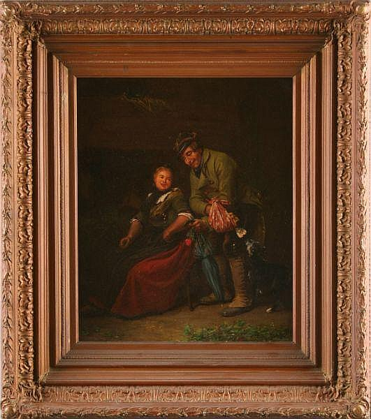 Franz Kels (German, 1828-1893), The Valentine, oil