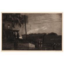 Martin Lewis (American, 1881-1962), Passing Freight, Danbury