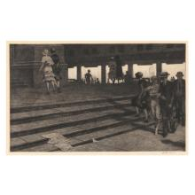 Martin Lewis (American, 1881-1962), Cathedral Steps