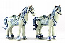 Pair of Chinese Porcelain Horses