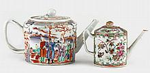 Two Chinese Export Porcelain Teapots