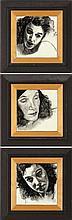 Susan Pelletier (NC), Three Portrait Tiles