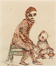 Robert Broderson (NC, 1920-1992), Three Figures