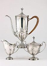 Art Nouveau Sterling Silver Demitasse Set