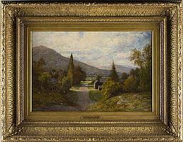 Alexander Lawrie (NY, 1828-1917), Village Lane