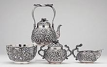 Japanese Silver Tea Service