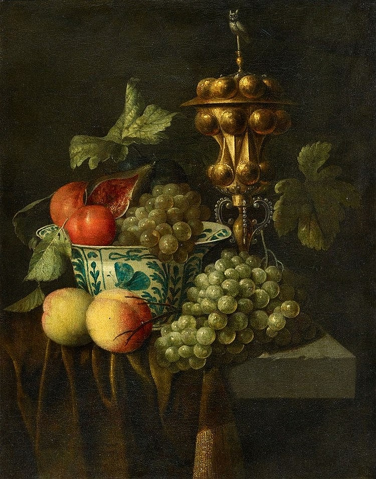 Johannes Hannot, attributed to, Fruit Still Life with a Columbine Cup