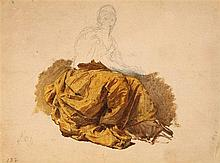 Franz Xaver Winterhalter, Drapery Study in Yellow