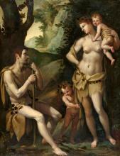 Jacopo (da Empoli) Chimenti, Adam and Eve with Cain and Abel