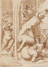 Hans von Aachen, attributed to, Bacchanalia Scene