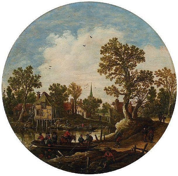 JAN VAN GOYEN   SUMMER LANDSCAPE WITH FERRYBOAT