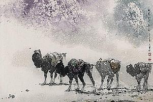 Li Shan (geb. 1926)Der Herbstwind lässt die