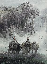Li Shan (geb. 1926)Am Tianshan-Gebirge bläst ein
