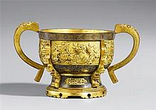 A partly gilded bronze Sawasa incense burner. Japan for the Chinese market. 18th century