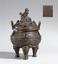 A large bronze incense burner. 18th century